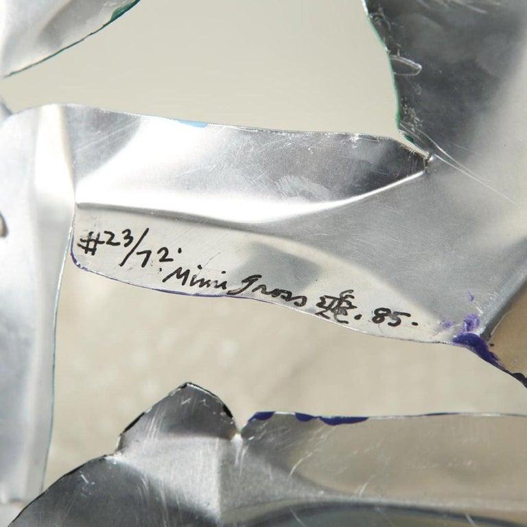 Mimi Gross Grooms Enamel Cut Aluminum Male Sculpture 1980s post-mod Pop Art    For Sale 3