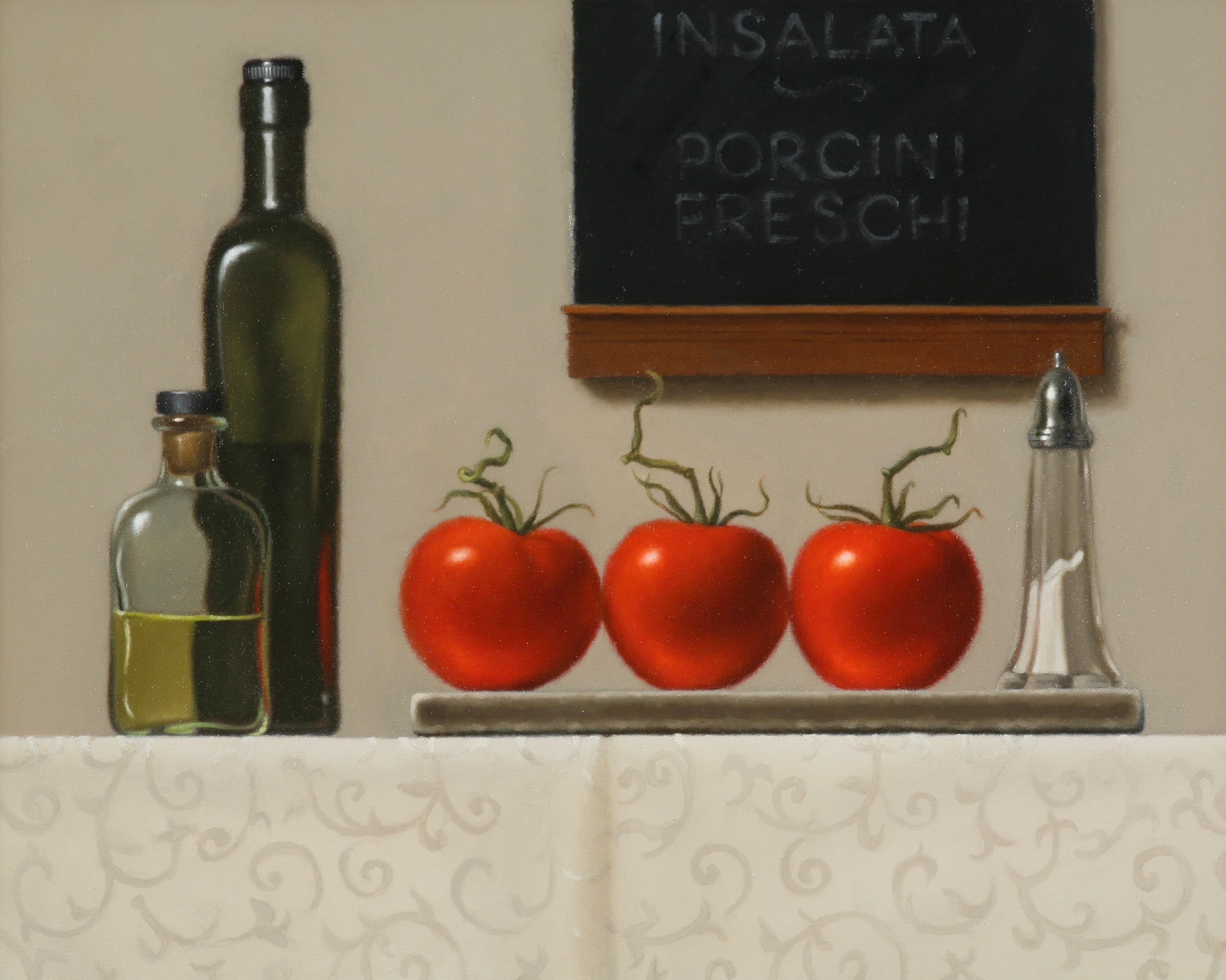 Insalata / realism still life oil tomatoes in kitchen