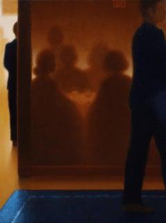 On The Town: Uptown / restaurant / bar scene, oil on canvas
