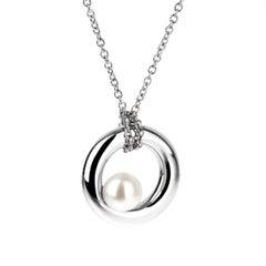 Mimi Milano Pearl White Gold Necklace