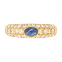 "Cartier ""Mimi"" Sapphire and Diamond Ring in 18k Yellow Gold"