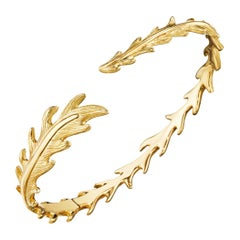 "Mimi So 18 Karat Yellow Gold ""Phoenix"" Feather Cuff"
