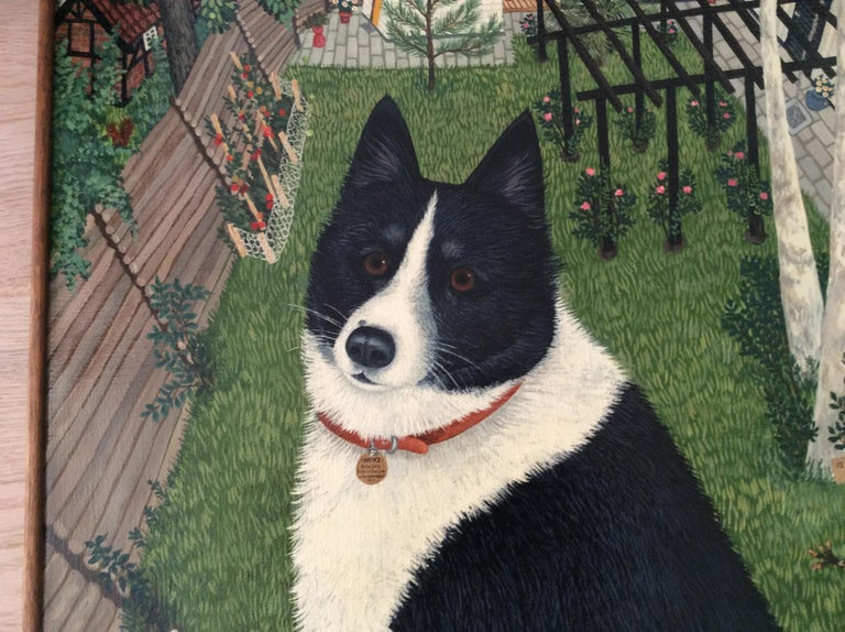 Mimi Vang Olsen is a New York born painter specializing in pet portraits in The Village since the early 1970s.Her work has brought her international recognition and celebrity clientele. And by analyzing the pet's personality ,dog or cat, you can