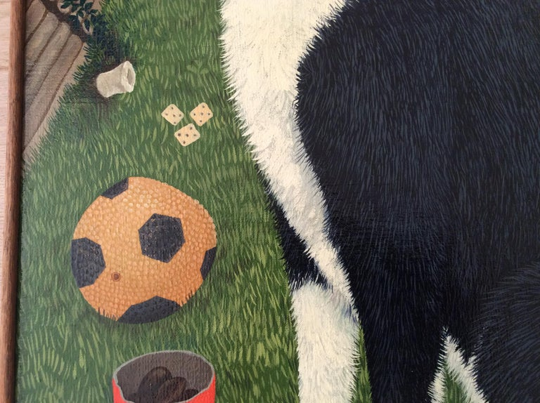 Late 20th Century Mimi Vang Olsen Portrait of a Dog in Garden For Sale