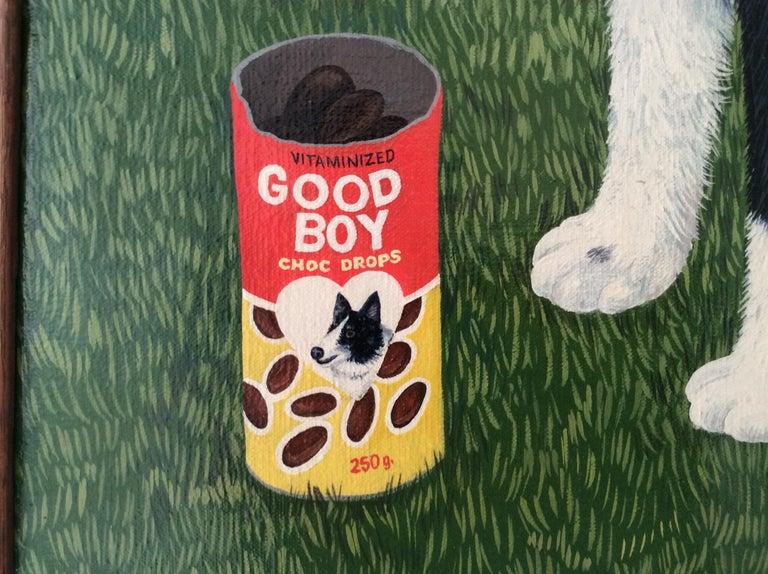 Canvas Mimi Vang Olsen Portrait of a Dog in Garden For Sale