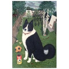 Mimi Vang Olsen Portrait of a Dog in Garden