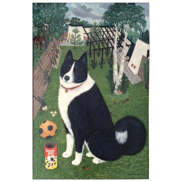 Mimi Vang Olsen Portrait of a Dog in Garden For Sale