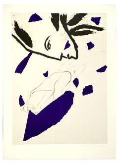 Untitled - Original Lithograph by Mimmo Paladino - 1983