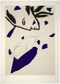 Untitled - Original Lithograph by Mimmo Paladino - 1983