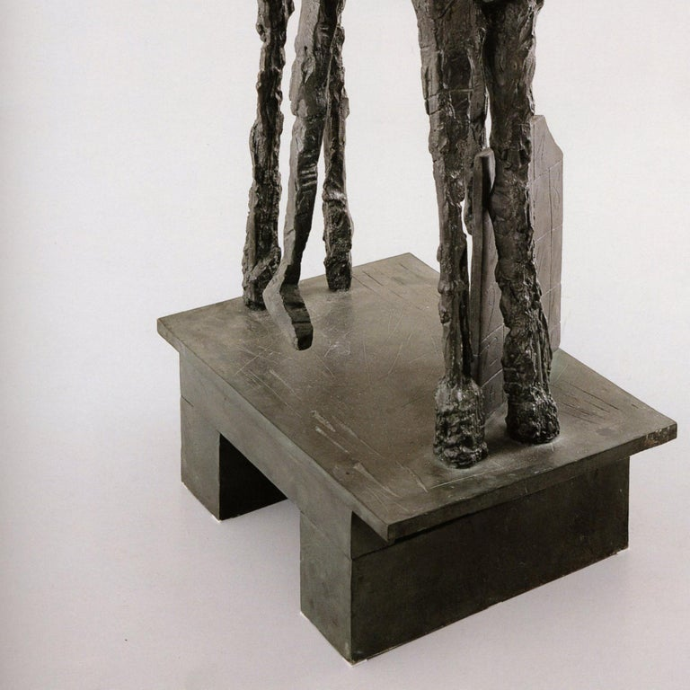 Etrusco is a 2003 limited edition bronze sculpture by Mimmo Paladino.  Etrusco is from an edition of 6 plus proofs. Etrusco is signed by Paladino.
