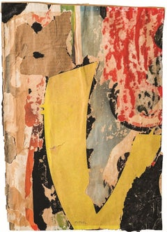 Untitled  - Decollage on Paper by Mimmo Rotella - 1957