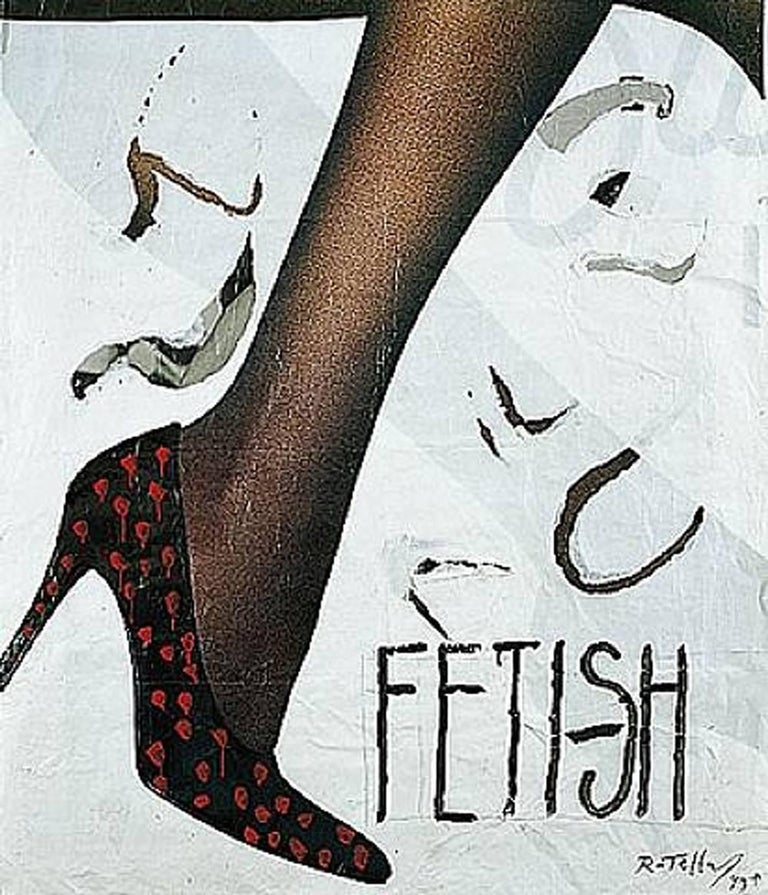 Mimmo Rotella Figurative Print - Fetish, Lithograph, Pop Art, Contemporary Art, Late 20th Century