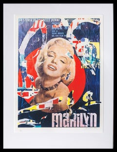 Marilyn, Pop Art Silkscreen by Mimmo Rotella