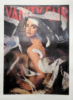 Vanity Fair, Penelope Cruz, Pop Art Serigraph by Mimmo Rotella