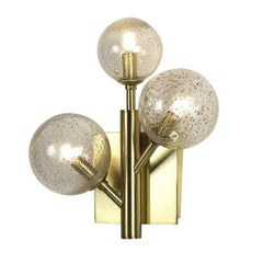 Mimosa Three-Light Brass Sconce