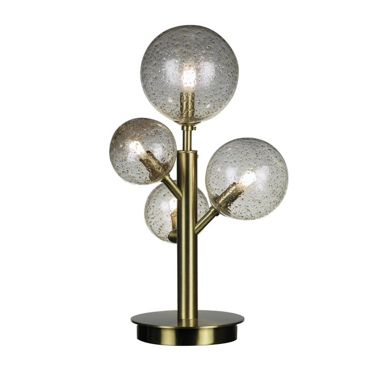 Mimosa 4 Light Satin Brass Table Lamp For Sale