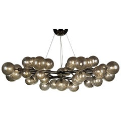 Mimosa 42 Light Black Nickel Chandelier