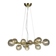 Mimosa 9 Light Satin Brass Chandelier