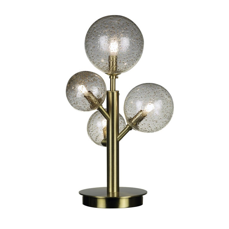 Mimosa 4 Light Satin Brass Table Lamp In New Condition For Sale In Milan, IT