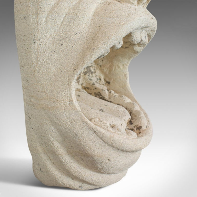 'Mind The Gap' Sculpture, Artwork, English, Bath Stone, Bust, Dominic Hurley For Sale 6