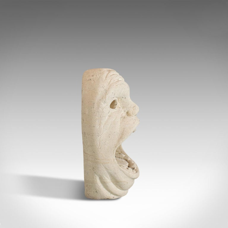 'Mind The Gap' Sculpture, Artwork, English, Bath Stone, Bust, Dominic Hurley In Good Condition For Sale In Hele, Devon, GB