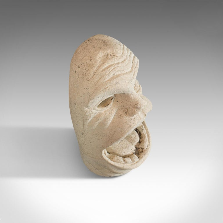 'Mind The Gap' Sculpture, Artwork, English, Bath Stone, Bust, Dominic Hurley For Sale 1