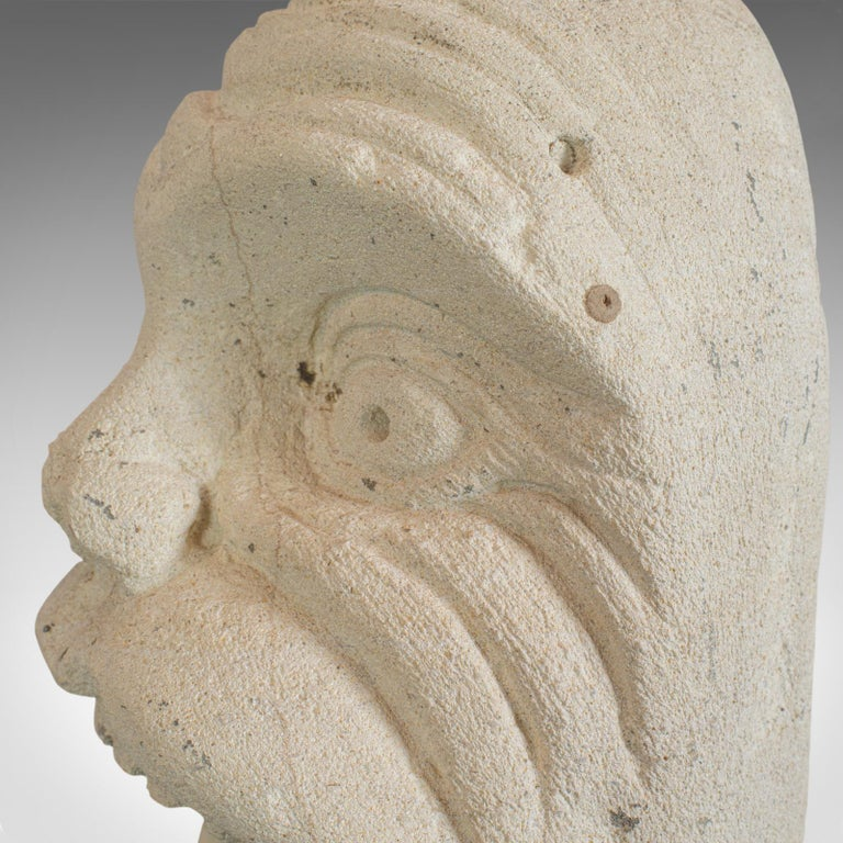 'Mind The Gap' Sculpture, Artwork, English, Bath Stone, Bust, Dominic Hurley For Sale 4