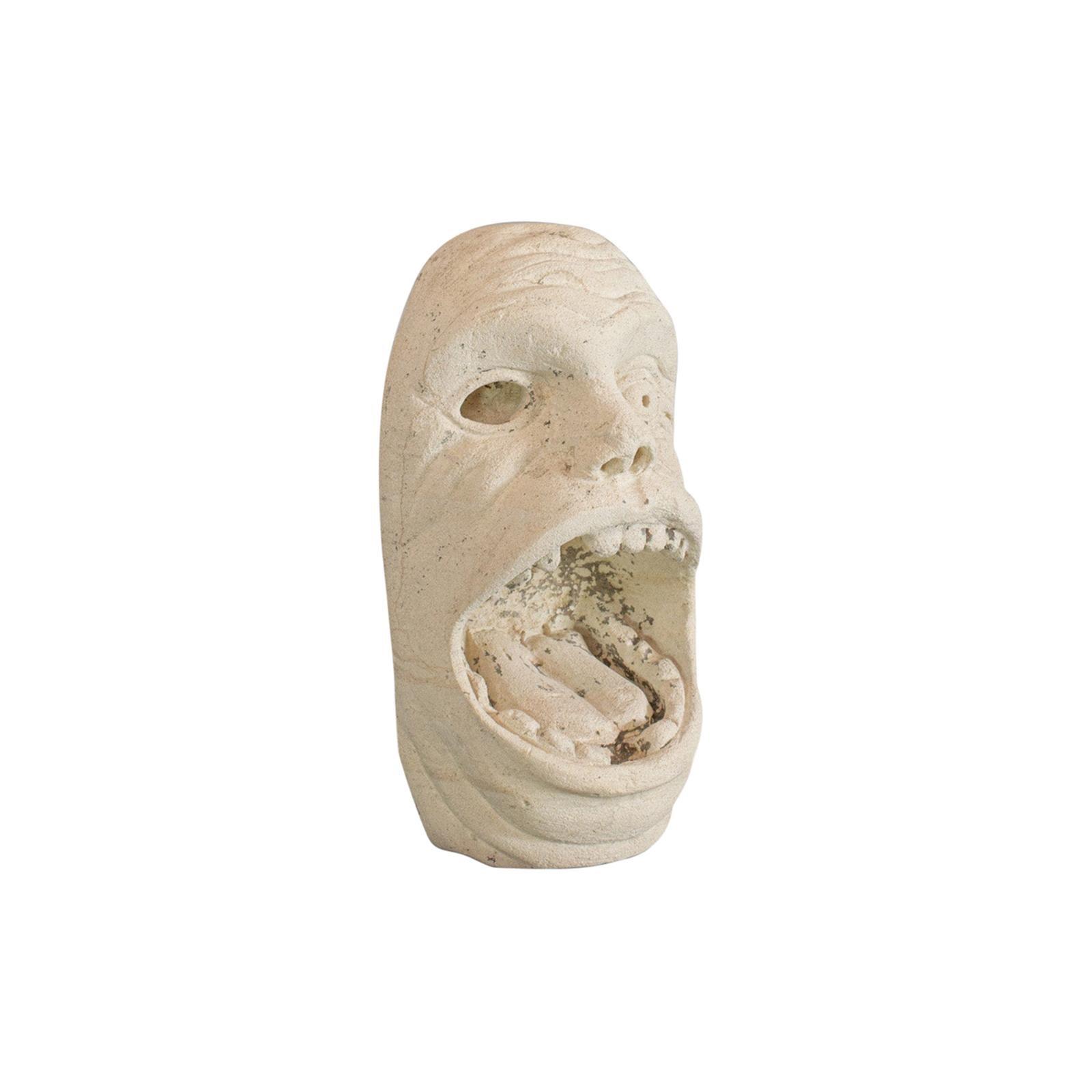 'Mind The Gap' Sculpture, Artwork, English, Bath Stone, Bust, Dominic Hurley