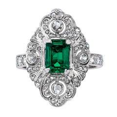 Mindi Mond Edwardian Emerald Diamond Ring