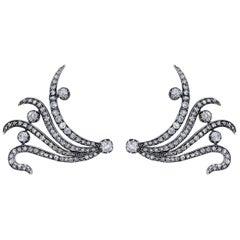 Mindi Mond New York Edwardian Style 7.60 Carat Diamond Octopus Earrings Pendants