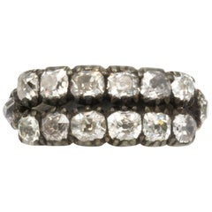 Mine Cut 2.60+ Carat Diamonds Antique Ring 15 Karat Gold