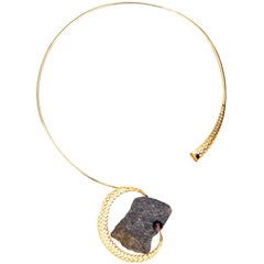 Yemyungji Mineral Collection Almandite Garnet 18 K Gold Great Impact Necklace