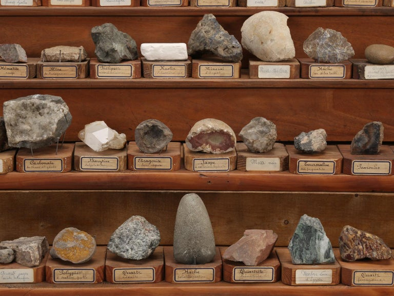 Mineral Specimen Collection, from a circa 1891 School in France For Sale 5