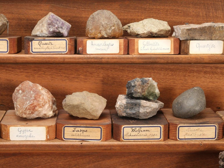 Mineral Specimen Collection, from a circa 1891 School in France For Sale 8