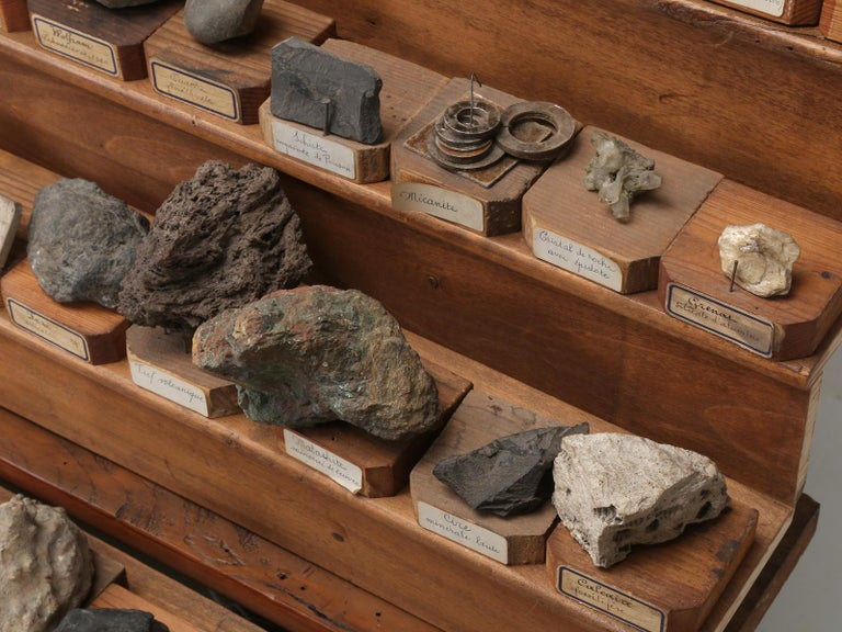 Mineral Specimen Collection, from a circa 1891 School in France For Sale 9