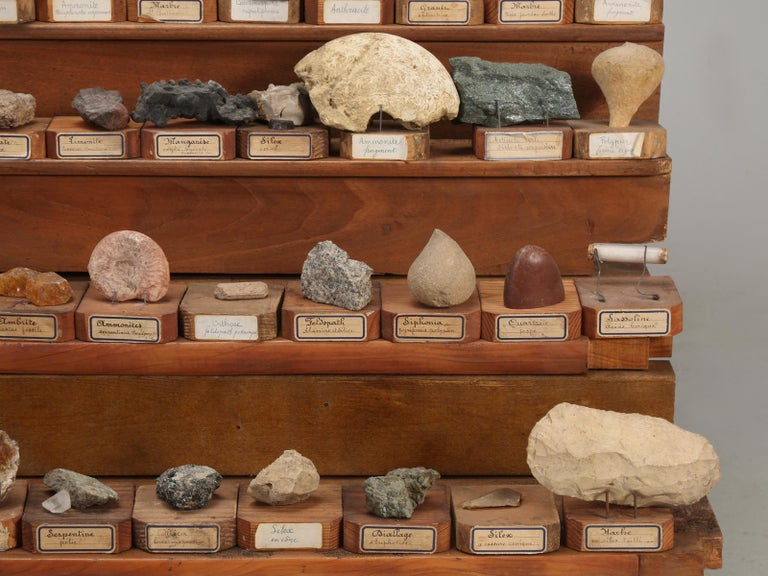 Mineral Specimen Collection, from a circa 1891 School in France For Sale 10