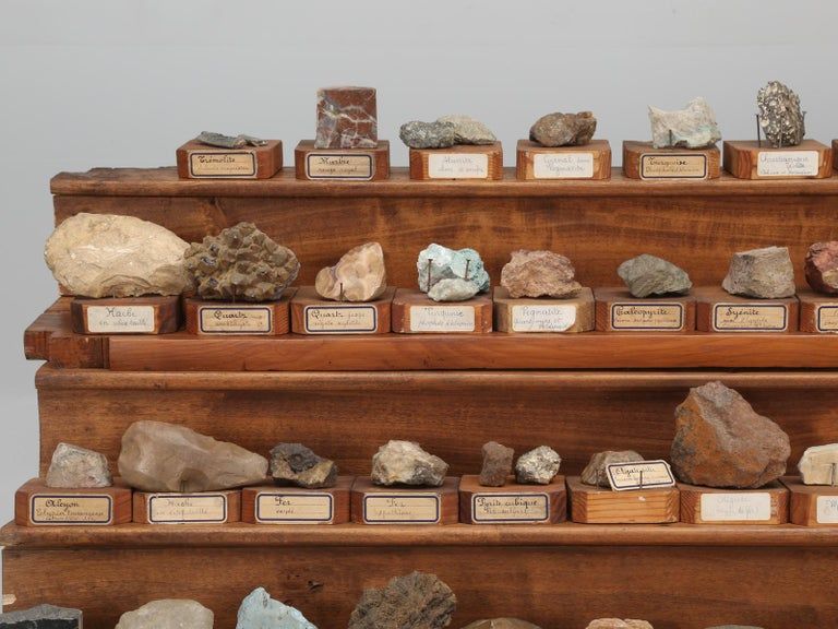 """An absolutely incredible mineral specimen collection, recently removed from a French Monastery School, that was about to be converted into a hotel. The school, """"House of Marist Brothers"""", opened in the early 1890s in the town of Varennes-sur-Allier,"""