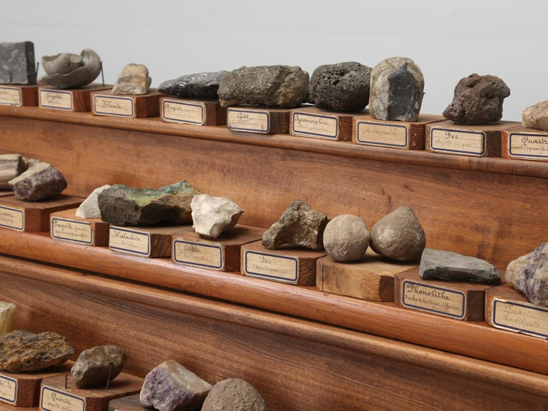 Mineral Specimen Collection, from a circa 1891 School in France In Good Condition For Sale In Chicago, IL