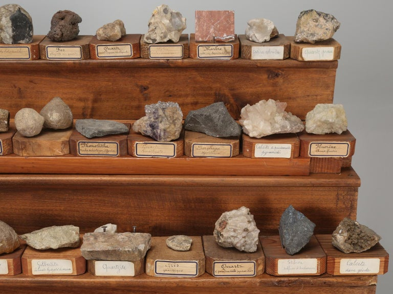 Late 19th Century Mineral Specimen Collection, from a circa 1891 School in France For Sale