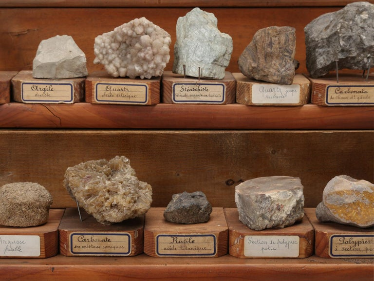 Mineral Specimen Collection, from a circa 1891 School in France For Sale 1