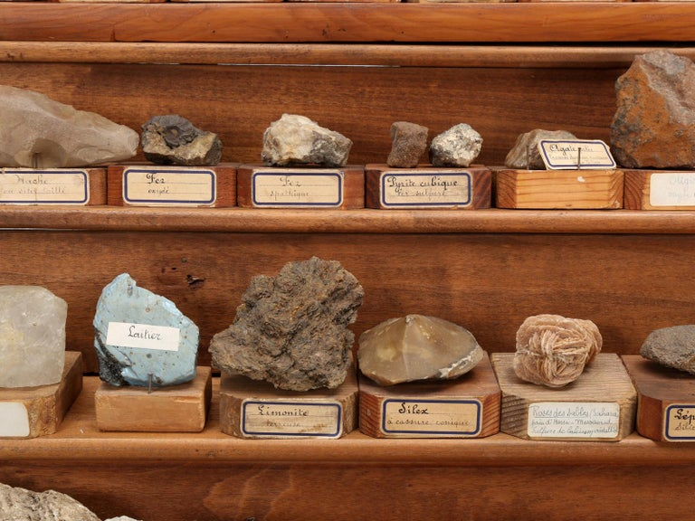 Mineral Specimen Collection, from a circa 1891 School in France For Sale 2