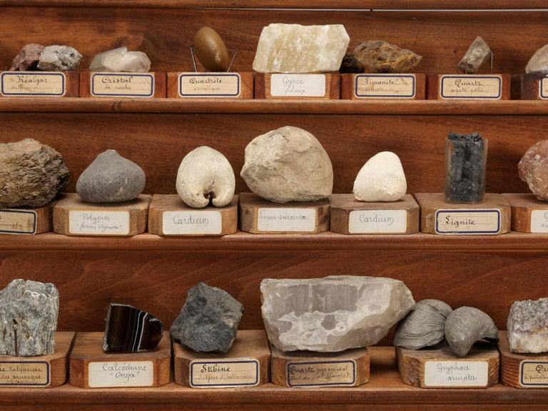 Mineral Specimen Collection, from a circa 1891 School in France For Sale 3