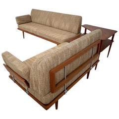 """Minerva"" Teak sofa Set Peter Hvidt & Orla Mølgaard by Nielsen France & Son"