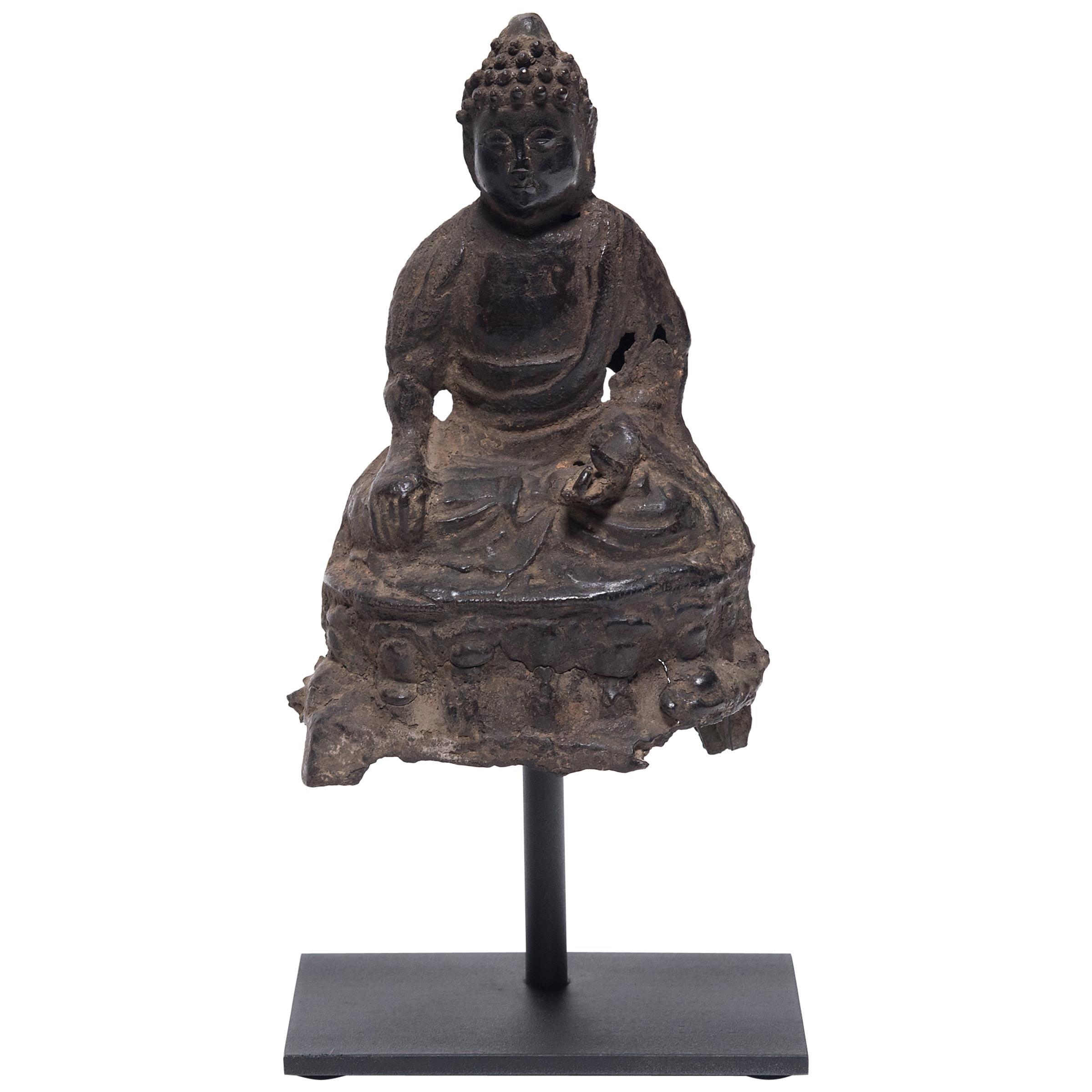 Ming Bronze Seated Buddha, circa 1600