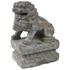 Ming Dynasty Carved Stone Foo Lion