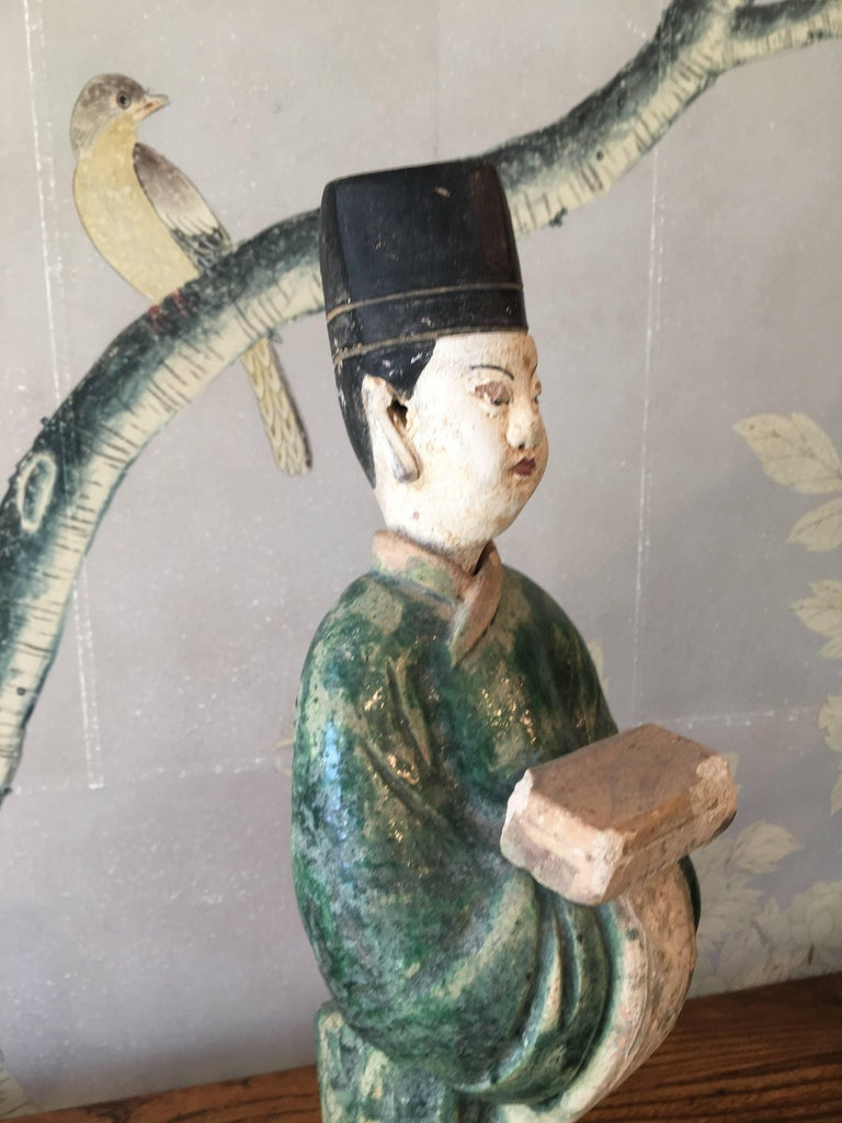 Clay Ming Dynasty Pottery Figure For Sale