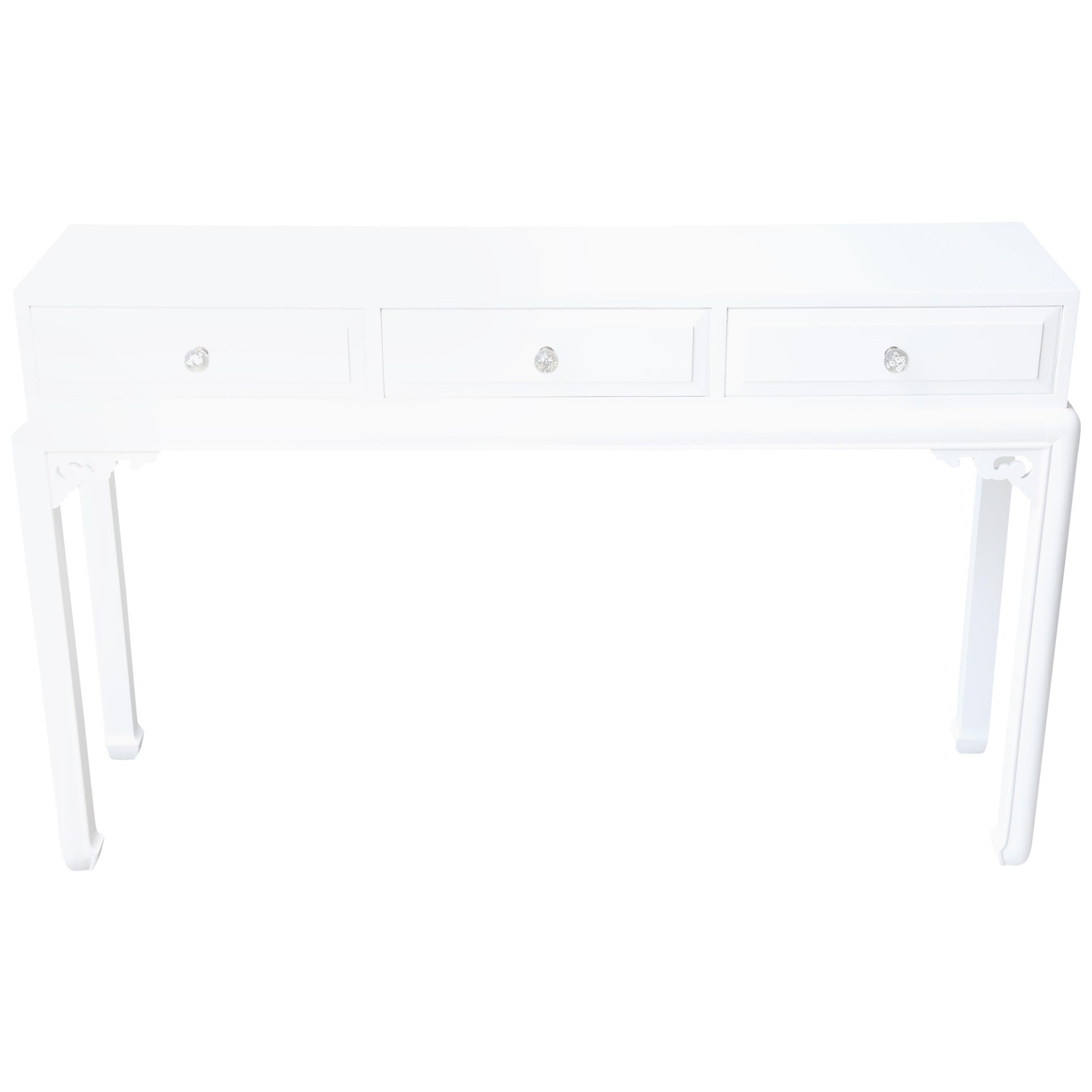 Ming Dynasty Style White Lacquered Console