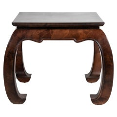 Ming Goatskin Side Table in Brown