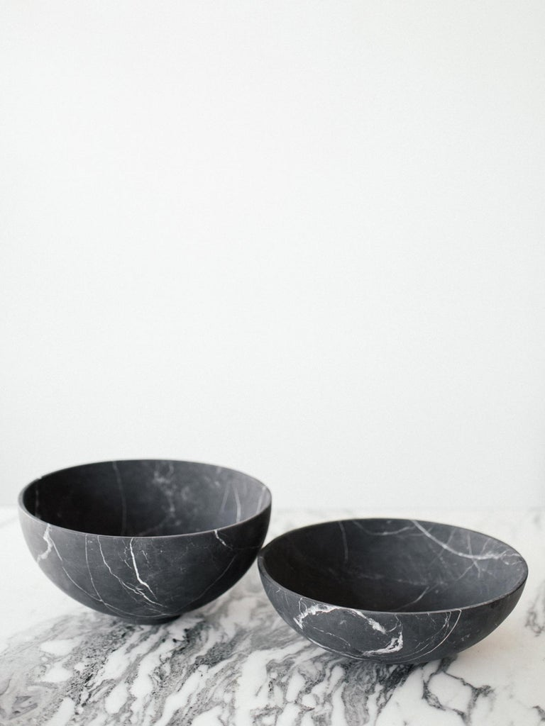 Handcut Negro Monterrey black marble from Neuvo Leon, Mexico. Handmade by artisans in Mexico.  Measures: Grande: 12