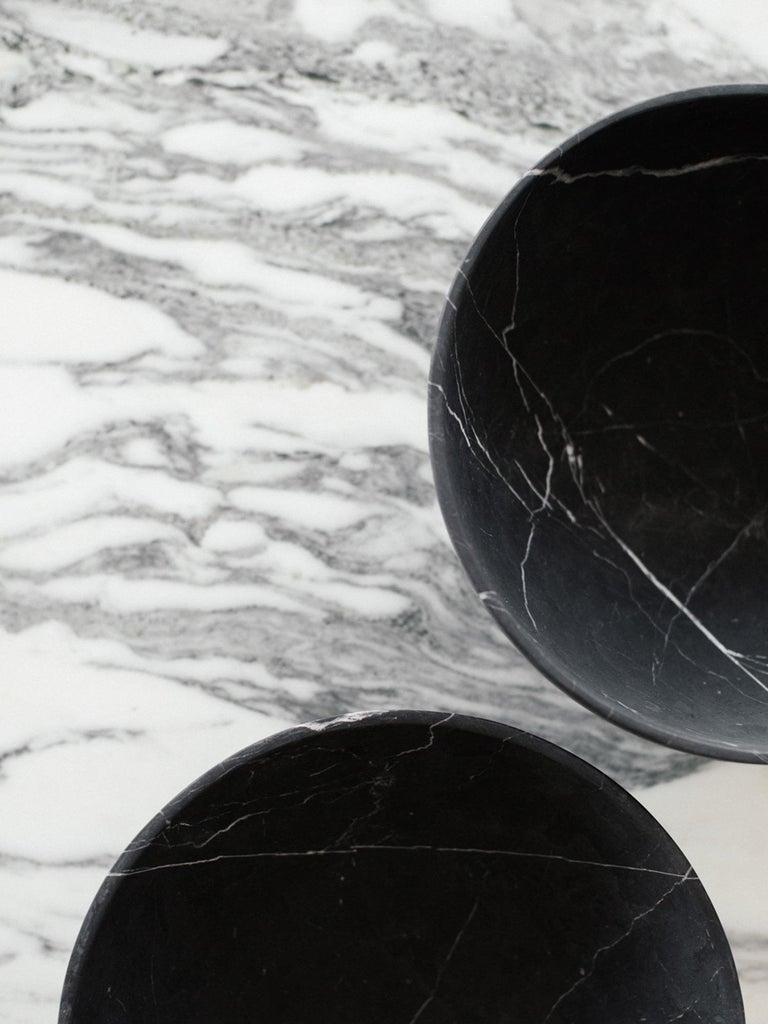 Mexican Ming Grande Bowl in Black Marble, in Stock For Sale